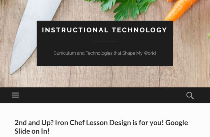 Link for Conference Resources: Iron Chef Lesson Design