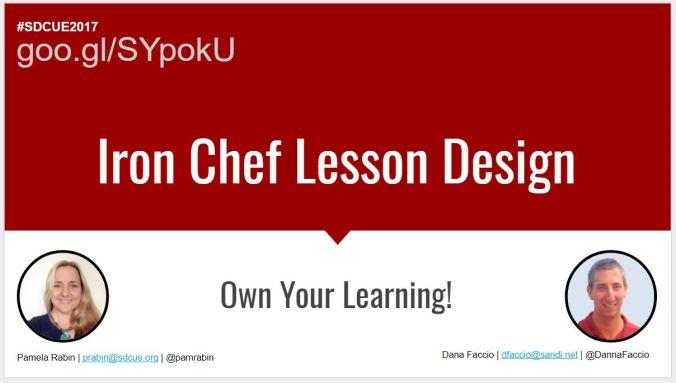 Link to Iron Chef Presentation